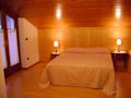 One of our rooms: we have three double rooms, to which we can add an additional bed.